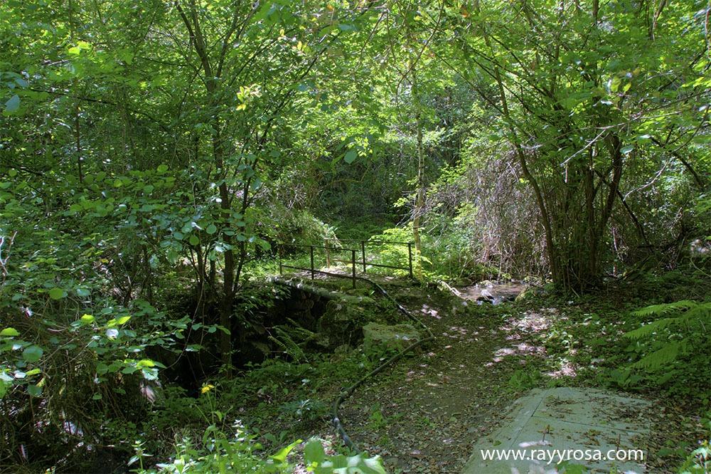 Entrando en la Canal del río Rubejo que nos conduce a Cabañes